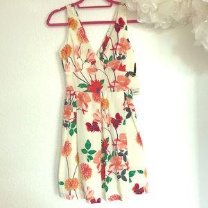 BB Dakota off white floral print dress